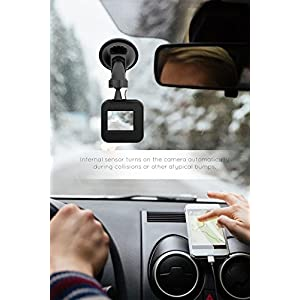 Sharper Image SDC300BK HD 1080P Dash Cam with Built-in Microphone