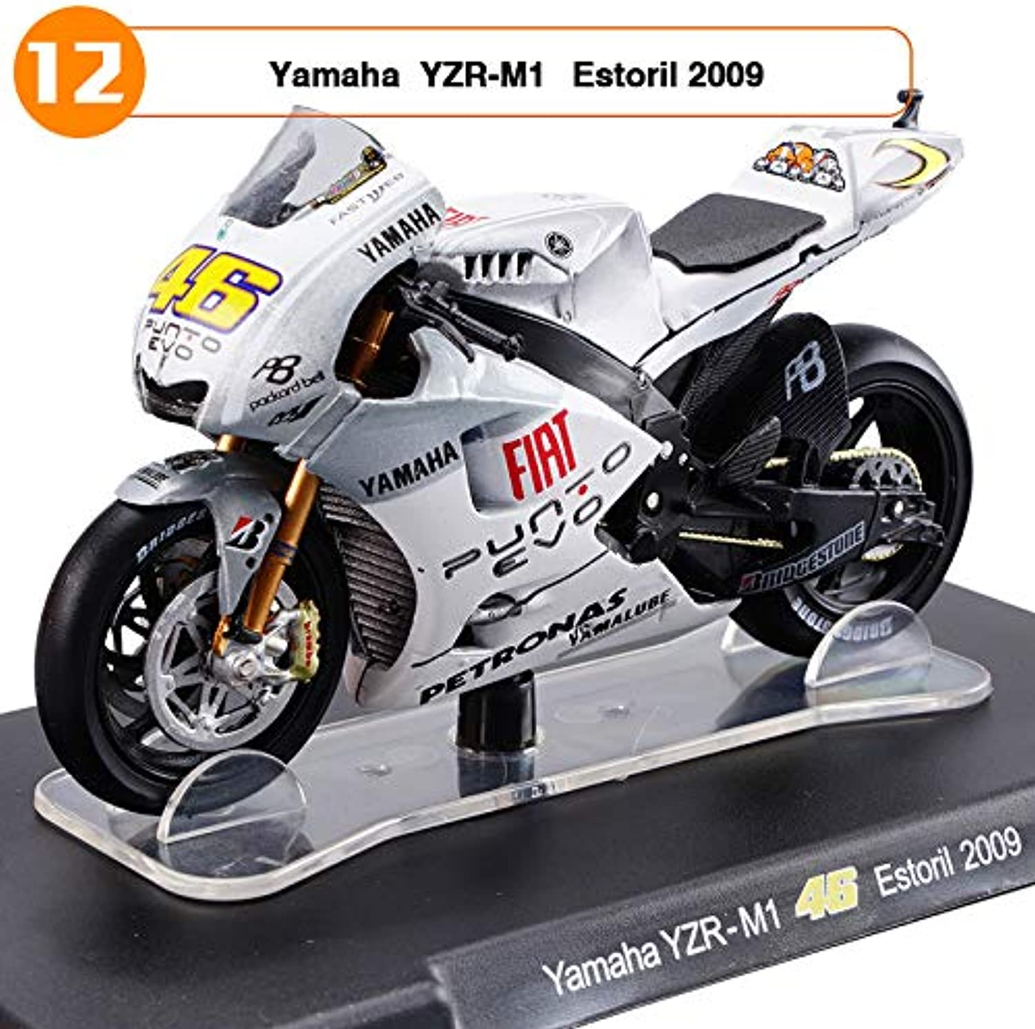 Generic 1 18 Scale Yamaha Yamaha Yamaha Honda Aprilia 46 Valentino Rossi MotoGP Diecast Motorcycle Toy Collecion Racing Bike Models for Kids Gift gold 32993a