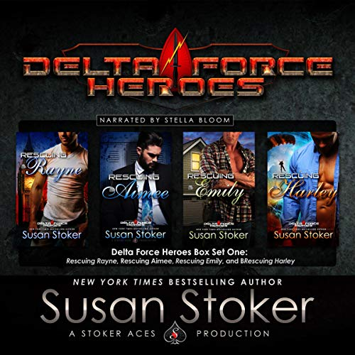 Delta Force Heroes, Box Set One                   Written by:                                                                                                                                 Susan Stoker                               Narrated by:                                                                                                                                 Stella Bloom                      Length: 25 hrs and 44 mins     Not rated yet     Overall 0.0