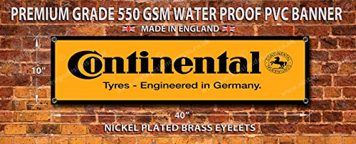 Vintage Sign Designs Continental Reifen' Hochwertige PVC Garage Werkstatt Banner