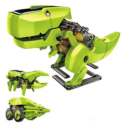 Achort 3 en 1 Juguetes educativos de Robot Solar, Kit de Robot de Dinosaurio con energía Solar, Juguetes Stem Kit de Experimento de Ciencia de construcción de Bricolaje para niños niños niñas de 8-10