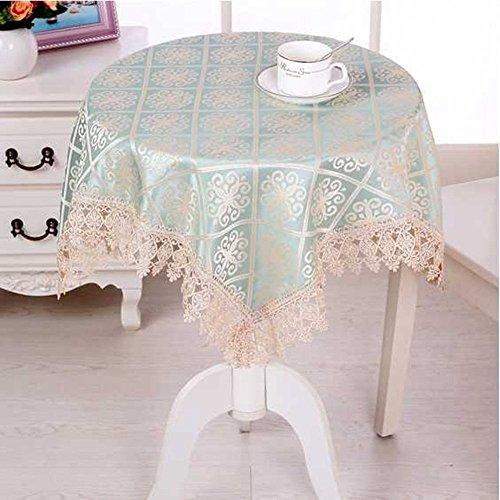 Benbroo Tischdecke für kleinen, runden Gartentisch, Blumenmuster, mit Servietten, dick, rechteckig Typ B