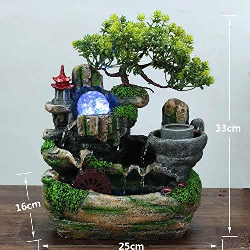 Tischfontänen Für Den Innenbereich Bonsai-Harz Wasserlandschaft Brunnen, F 鞥 S Wird Bonsai Füllen Wasserfall Brunnen Mit Harz-brunnen-wasserfontäne 13zoll