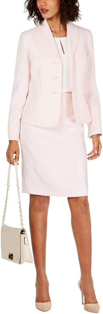 Le Suit Women's 3 Button Novelty Skirt Suit