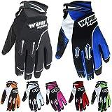Wulfsport Children Kids Stratos Motocross Motorbike Gloves (Blue XS 7cm) ATV Dirt Quad Bike Off Road Gloves