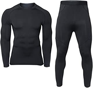 Men's Winter Thermal Underwear Clothing Set Warm Long Johns Pants Sport Suits