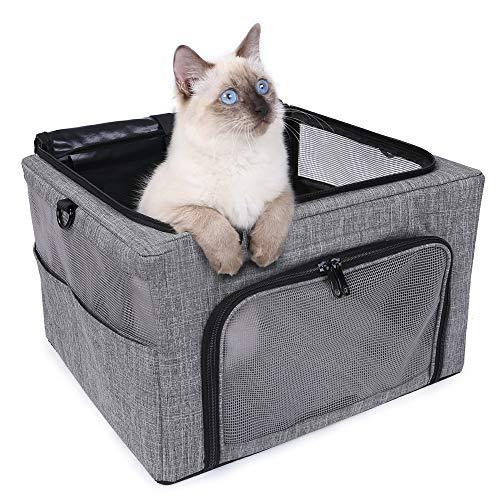 OCIA Transportbox Katze Hund Transporttasche Faltbare Hundebox Katzentransportbox Transporttasche Reisetasche für Auto Flug