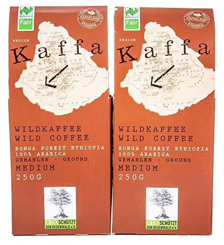 Kaffa Wildkaffee Bio Kaffa Wildkaffee, medium, gemahlen, 250g (2 x 250 gr)