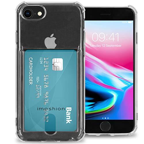 iMoshion - Carcasa blanda con tarjetero para iPhone SE (2020) / 8/7/6 (s) - Transparente