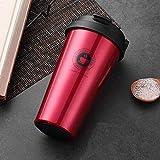Heliansheng Tazza da caffè a doppio strato in acciaio inossidabile 304 tazza da caffè con isolamento sportivo Tazza da acqua aziendale-Set 18-500ml-G798