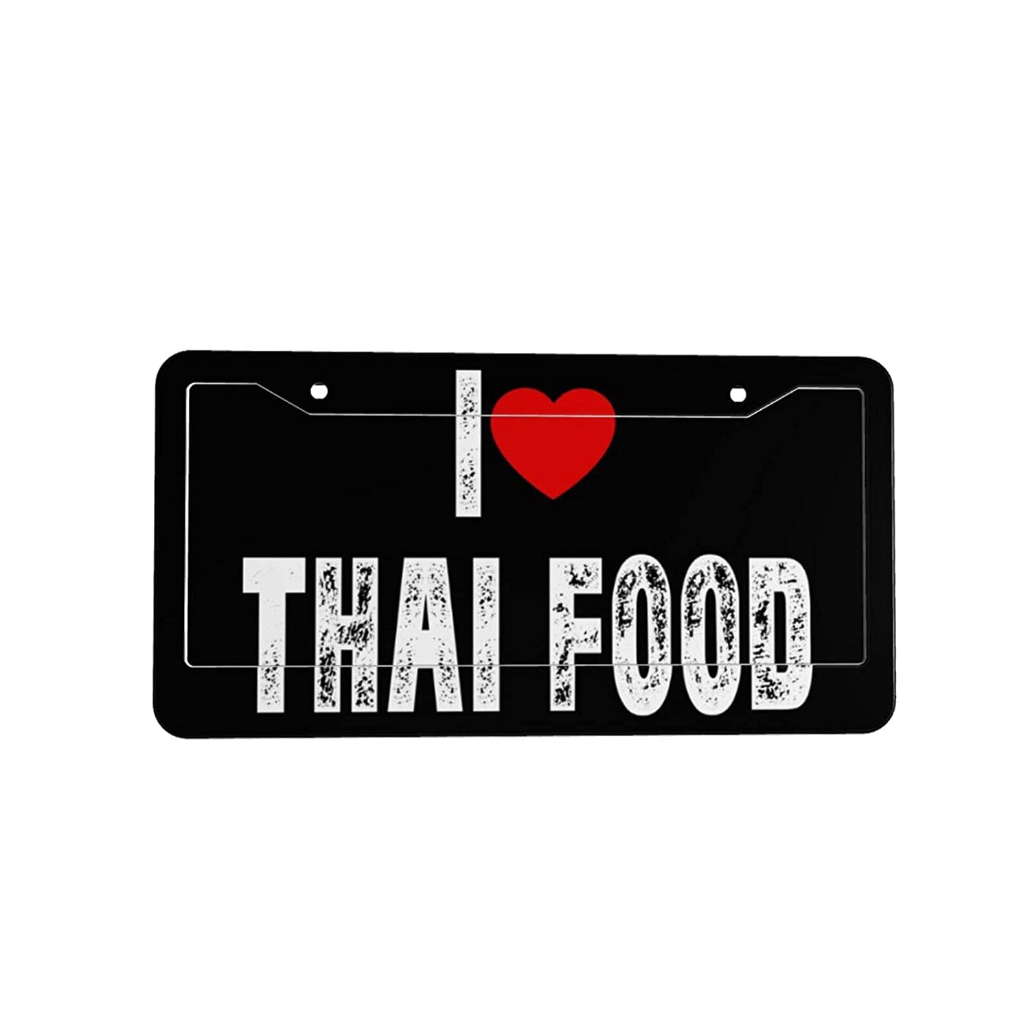 I Heart Love Thai Food License Plate Decorative Car Front License Plate Vanity Tag Metal Car Plate Aluminum Novelty License Plate