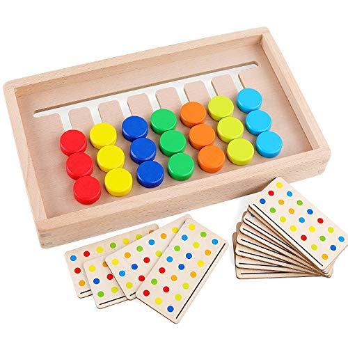 色合わせ 7色 カラー ボードゲーム 脳トレ グッズ パズル おもちゃ 知育 子供 こども 高齢者 祖父 祖父母 頭の体操 子どもからお年寄りまで 楽しい 知育玩具 知恵遊び 記憶力 集中力 指先トレーニング 誕生日 クリスマス プレゼント 敬老の日 ギフト 暇つぶし 玩具