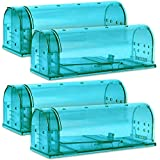 Kat Sense Humane Smart Mouse Traps, Pack of 4, Cruelty Free Live Trap, Catch and Release Mice, Chipmunks into The Wild, Ideal No Kill Smart Trapper House Cage for Pest Control Solutions