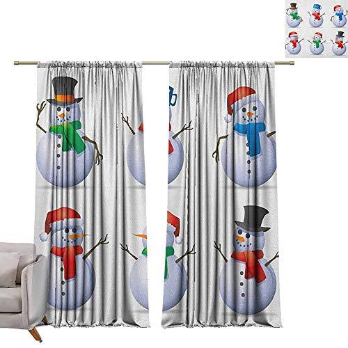 Tr.G verduisterende gordijnen voor kamer donkere panelen voor woonkamer slaapkamer Kerstmis, Kerstman zitten op dak boven kijken door verrekijkers bewolkt stadsbeeld rood lichtgrijs