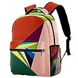 Mochila para niños y niñas para la escuela abstracta verde linda mochilas para primaria o jardín de infancia 29.4x20x40cm, Color Art7, 29.4x20x40cm, Mochilas Daypack