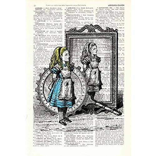 For Her In Wonderland Vintage Book Print Book Print Wall Art Home Decoration Posters And Prints-50x70cm Roll Canvas