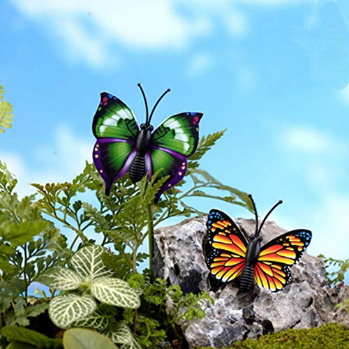 Olatokolaos 4 Pcs Set Miniatures Crafts Butterfly Fairy Mini Gnomes Moss Terrariums Figurines 4x4cm - Butterfly Butterfly Butterfly Decor Insect Keyboard With Decor Fairi Terrarium Ins