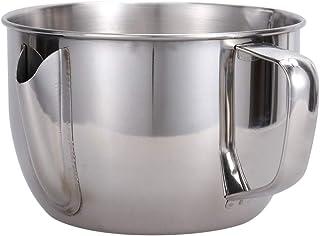 UPKOCH cuenco separador de grasa de aceite con mango para salsa olla de separador de grasa de aceite olla de colador de sopa de aceite de acero inoxidable para cocina de restaurante casero