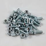 20 Sets - Auger Shear Pins Bolts & Nuts Honda...