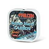 Falcon Super Hard, Nylon Persicus S.Hard Carbon, 50 m Hilo de Pesca, Transparente, 0,090 mm X