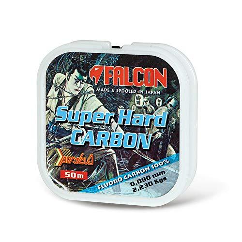 Falcon Super Hard, Nylon Persicus S.Hard Carbon, 50 mt Filo da Pesca, Trasparente, 0,135 mm X