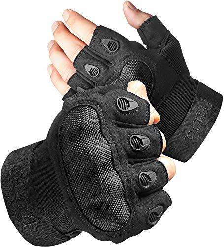 FREETOO Motorradhandschuhe Herren Touchscreen Sport Handschuhe Vollfinger Taktische Handschuhe mit gepolstertem Rückenseite geeignet für Motorrad Fahrrad, Paintball und andere Outdoor Aktivitäten