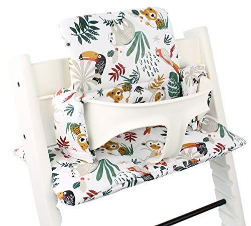 Beschichtetes Sitzkissen Sitzverkleinerer Kissen von UKJE für Stokke Tripp Trapp Beschichtet Praktisch und dick gepolstert Weiß Affe Maschinenwaschbar 2-teilig Öko-Tex Baumwolle