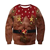 RAISEVERN Novedad Carambola Hombre Pecho Cabello Impreso Suéteres Jersey Personalizado para jóvenes Niñas Niños Adultos Cantando/Bailando/Jugando