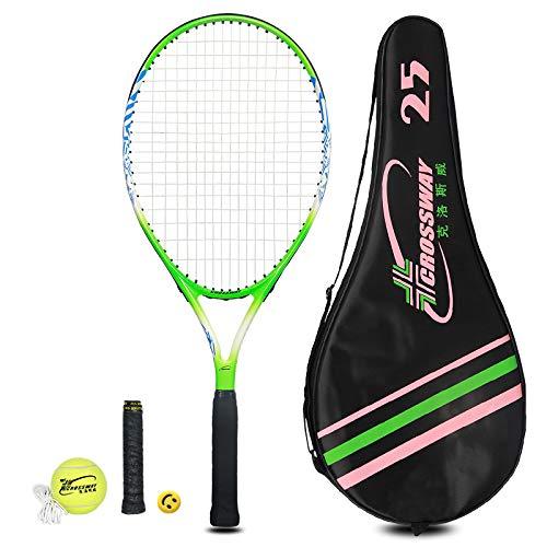 MAIBOLE Junior Tennis Racquet Recreational Tennis Racket Pre-Strung Head Light Balance for Beginners Youth Kids, Good Control Grip