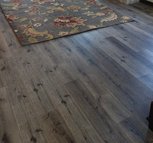 Turtle Bay Floors Waterproof Click WPC Flooring - Wirebrushed European Oak Floating Flooring: 3-Colors (Sample, Mountain)