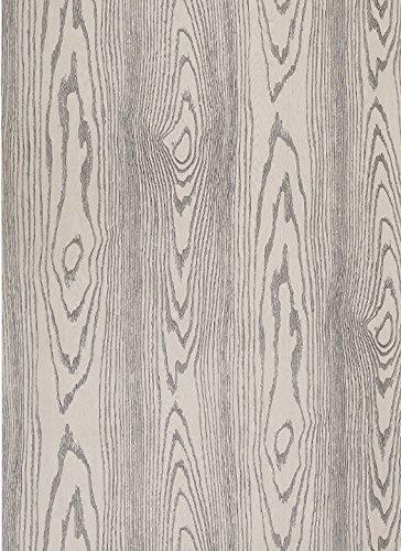 GLOW4U Revêtement autocollant en vinyle grain de bois de chêne pour étagères de cuisine, comptoirs, armoires, tables, meubles de bureau, 60 x 300 cm