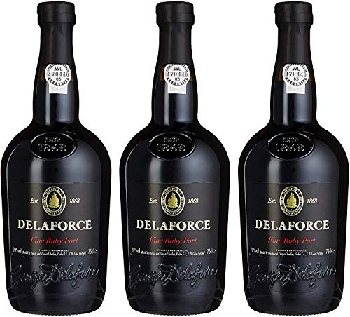 Delaforce Fine Ruby Port (3 Flaschen á 750ml)