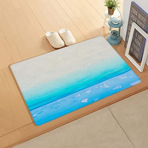 Knight Dream Fußmatte aus Kunstleder glatt – Ocean Fußmatte, magische Fantasie Strand Teppich für Schlafzimmer Wohnzimmer Modern Home Decor 45,7 x 119,4 cm
