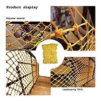 ロープネット黄色バルコニー保護ネット頑丈なネッティングバルコニー手すり階段屋外庭で防腐ネットクライミングネット貨物ネットメイド壁掛け装飾8ミリメートル12センチ (Size : 2*9)