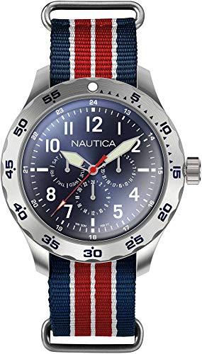 Nautica Men's Cruise Ncc01 Multi NAPNCI805 Blue Nylon Quartz Fashion Watch