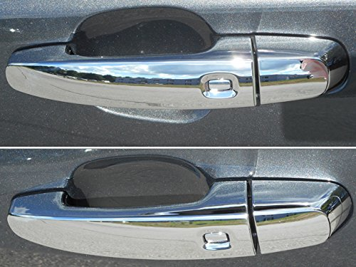 QAA fits 14-20 Chevy Impala, 19-20 Blazer, 18-20 Equinox, 16-20 Malibu, 18-20 Traverse, 17-20 GMC Acadia, 18-20 Terrain 8 pc Chrome ABS Door Handle Covers, with 4 Smart Key Access Points DH54137