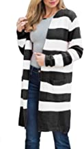 Womens Boho Long Cardigans Plus Size Color Block Striped Loose Fall Knit Sweaters Duster Coats