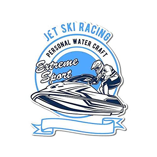 ZCZWQ 13cm x 11 cm para jet ski racing ilustración vectorial pegatinas...