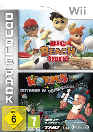 Big Beach Sports + Worms: Odyssee im Wurmraum - [Nintendo Wii]