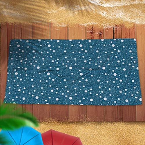 LASISZ Microfine Beach Towel for Adults Sport/Gym/Bath Towel Bathroom Towels Microfiber Travel Sand Free Large Robe Sport for Sauna Mat,Blue Beach Tow