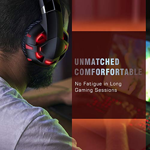 RUNMUS Gaming Headset Xbox One Headset with 7.1 Surround Sound, PS4 Headset with Noise Canceling Mic