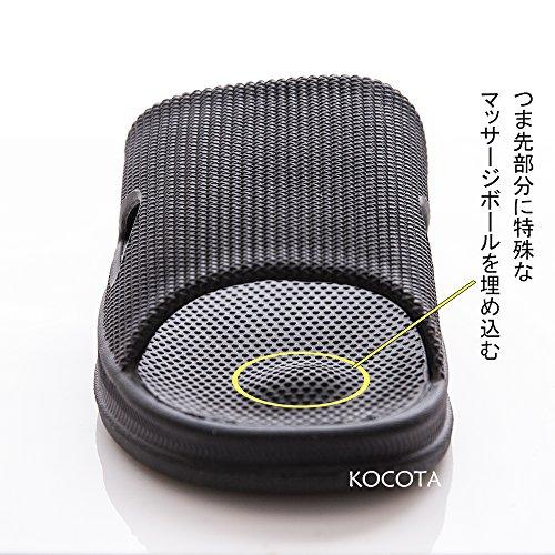 [KOCOTA]抗菌防臭素材スリッパサンダル超軽量滑り止め男女兼用ネイビーXL