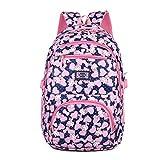 Tinytot Designer Hi Storage School Backpack School Bag for Girls (Blue) 26 L