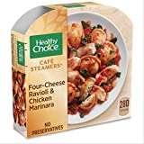 Healthy Choice Cafe Steamers Frozen Dinner, Four Cheese Ravioli & Chicken Marinara, Packed with Protein, 10 Ounce