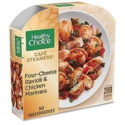Healthy Choice Café Steamers Four Cheese Ravioli & Chicken Marinara Frozen Meal, 10 oz.