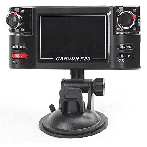 DVR para coche con pantalla LCD 2,7 pulgadas, doble cámara de coche HD REC 30 FPS AVI, foto AV F30