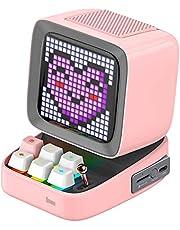 Divoom Ditoo Multifunctional Pixel Art głośnik LED, 256 programowalny panel LED z oświetleniem imprezowym, inteligentny cyfrowy zegar stołowy, dla graczy, obsługuje kartę TF i radio