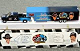 1995 Brookfield Dale Earnhardt & Richard Petty 7-Time Champions Crew Cab Pickup Truck & Transporter Trailer 2-Piece Set GIANT 26' LONG in 1:25 Scale