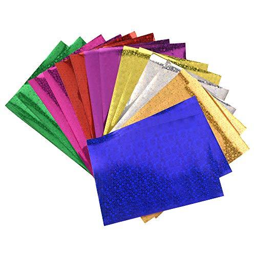ewtshop® 20 Blatt schimmerndes Hologramm Papier mit Sternen, Format DIN A4, in 10