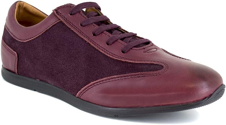 J.Bradford Sneaker Burgendy Leather JB-TAVAO